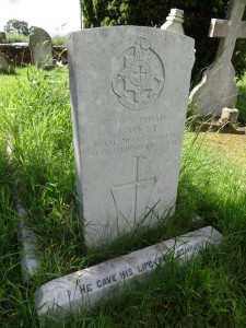 Grave of Jethro West in Heyshott churchyard
