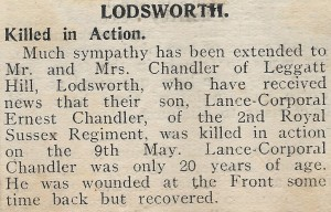West Sussex Gazette 1915