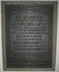 Memorial in West Lavington church