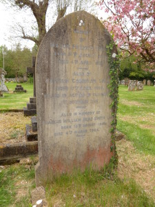 The grave of Francis Smith and Francis William Head Smith in Trotton churchyard