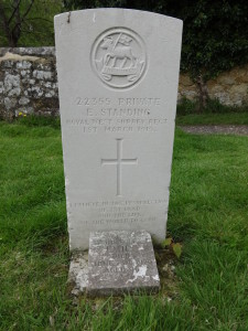 The grave of Edwin Standing in Trotton churchyard