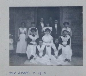 Domestic staff at Fernden Preparatory School c.1911/12