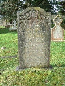 Memorial headstone in Midhurst Cemetery