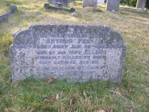 Memorial stone in Midhurst Cemetery