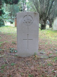 Headstone in Midhurst Cemetery