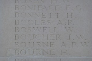 William Boswell's inscription