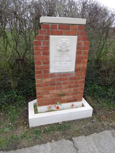 Memorial to the Bedfordshire Regiment at Tyne Cot, near Ypres