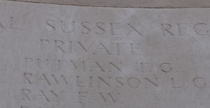 Private Thomas Graham Putman remembered on the Loos Memorial