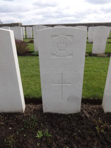 The grave of Captain Edward Corrigan Smith at Bedford House Cemetery
