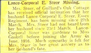 From The Midhurst Times 3 May 1918